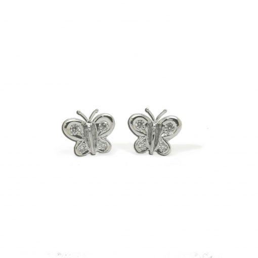 BLASCOBASIC Pendientes Mariposas + Perla cultivada oro amarillo y diamantes