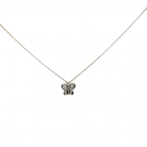 Cadena oro Mariposa diamantes