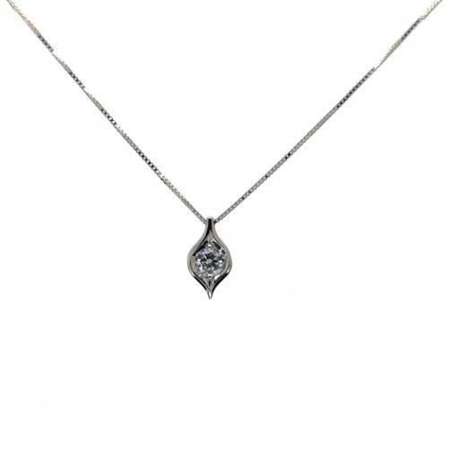 BLASCO-BASIC-Cadena-y-colgante-oro-blanco-con-diamante-talla-brillante-lagrima