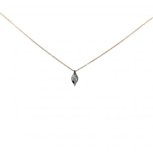 BLASCO-BASIC-Cadena-y-colgante-oro-con-diamante-talla-brillante-ROSA