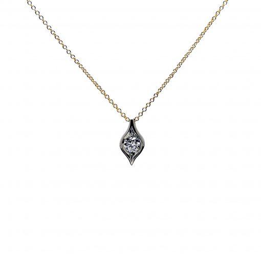 Cadena colgante oro diamante talla brillante