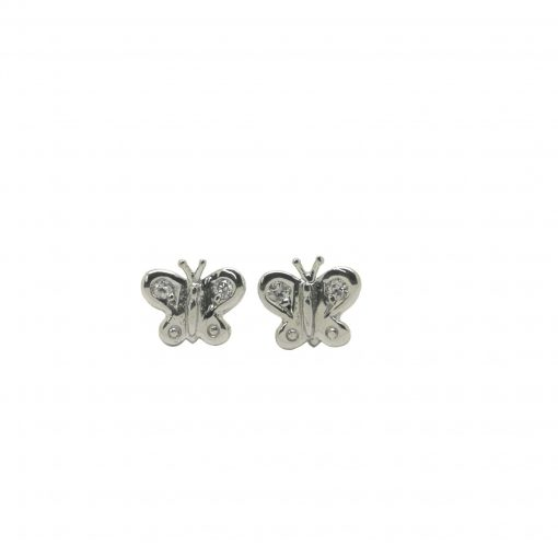 Pendientes Mariposa diamantes oro blanco