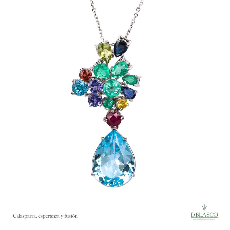 Colgante gemas color Calasparra