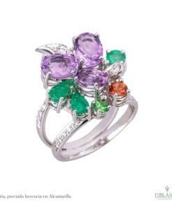 Anillo diamantes amatistas gemas Alcantarilla