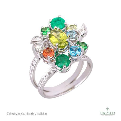 Anillo diamantes gemas Cehegín