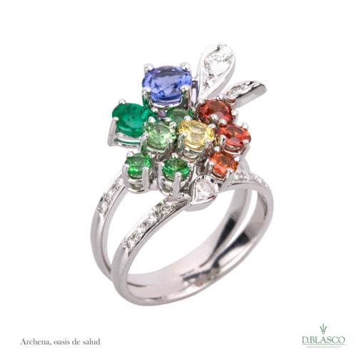 Anillo diamantes gemas Archena