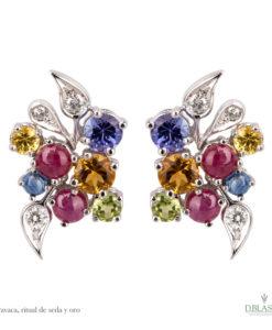 Pendientes diamantes gemas Caravaca