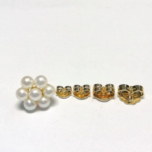 Pendientes piña perlas Blasco Joyero Murcia