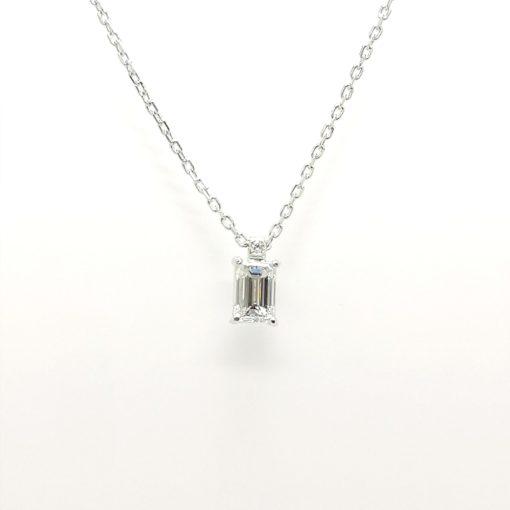 colgante diamante talla esmeralda BLASCO JOYERO MURCIA